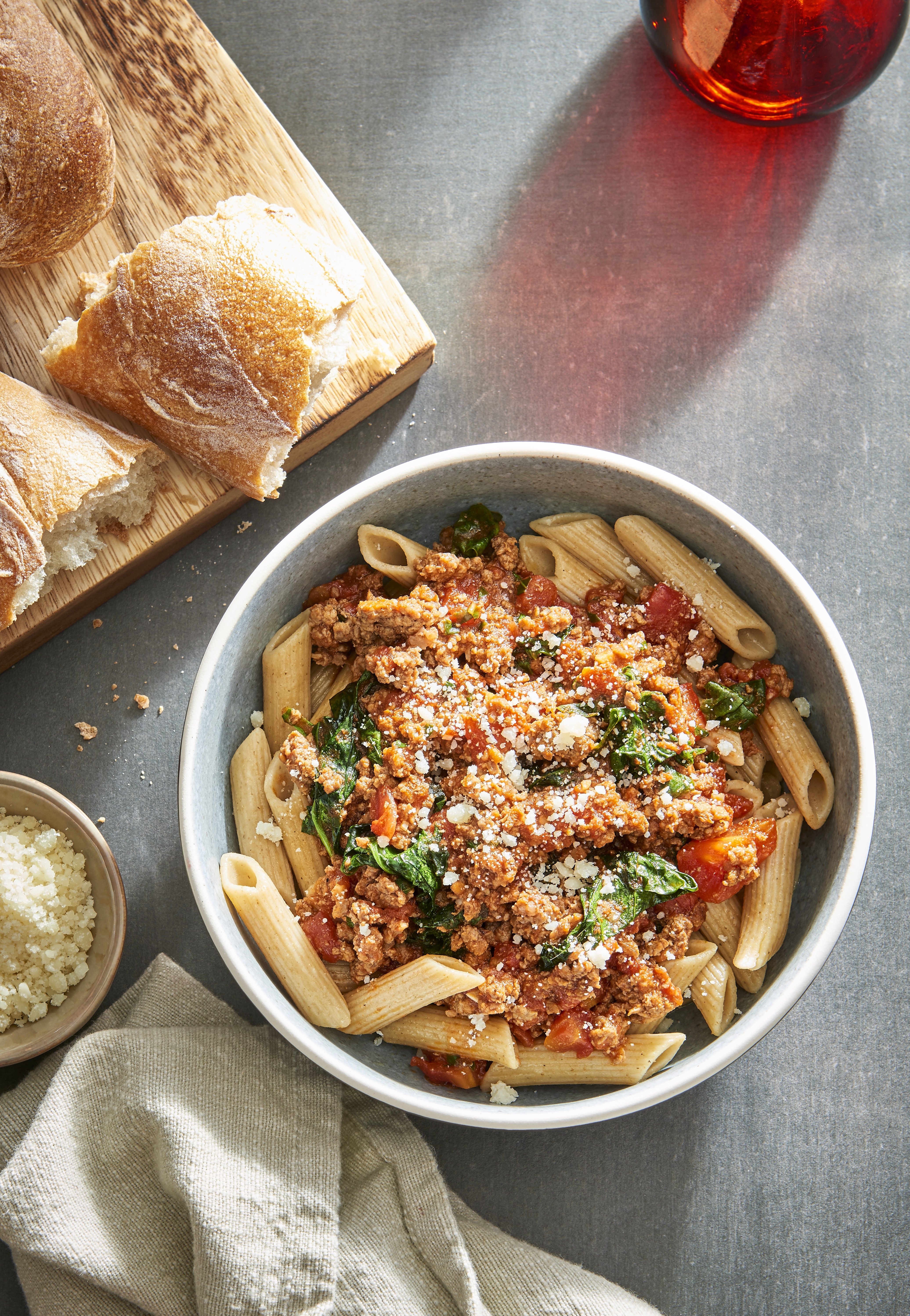 7-Ingredient Bolognese with Spinach